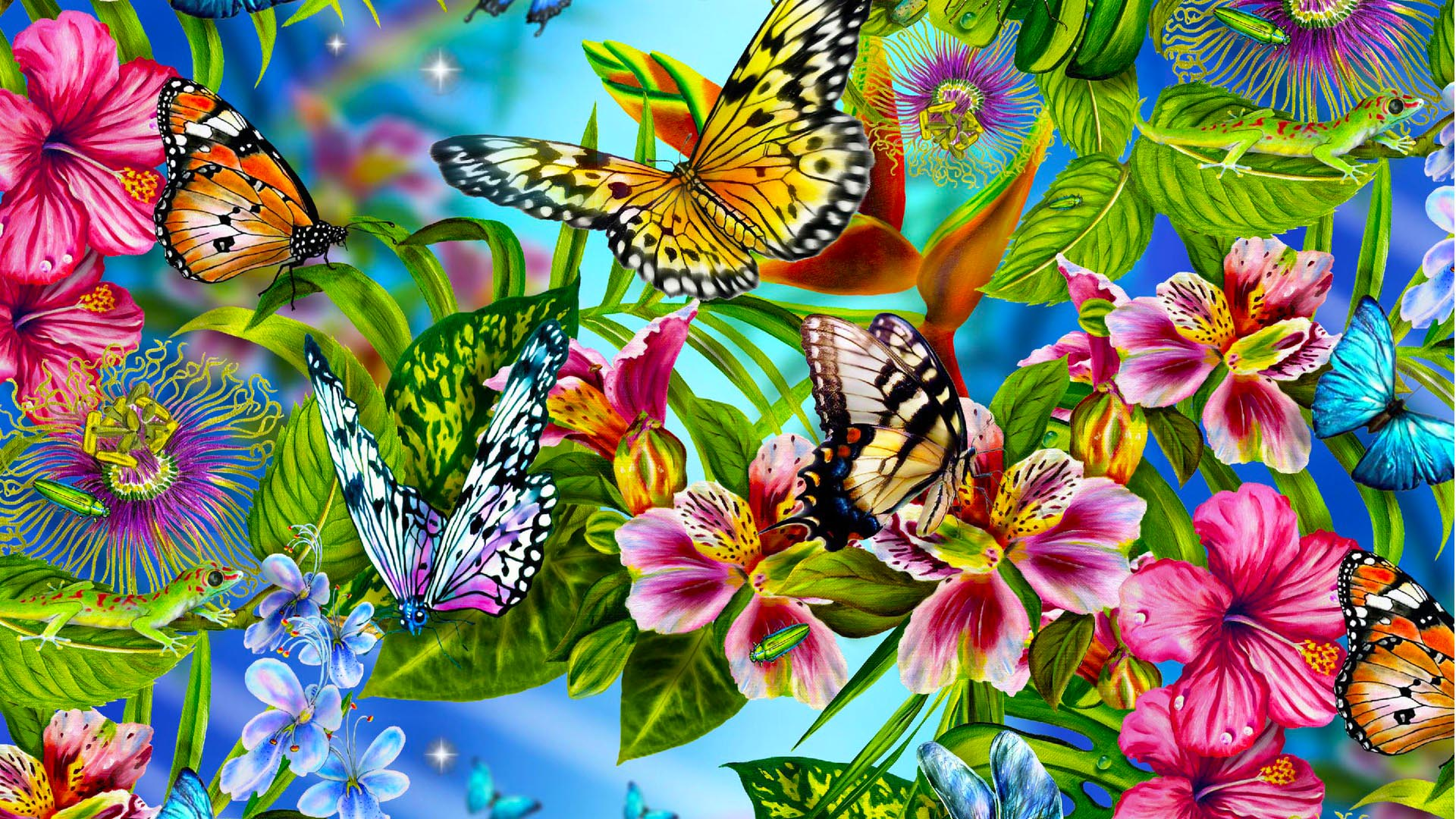 48+ Beautiful Butterflies and Flowers Wallpapers on ...