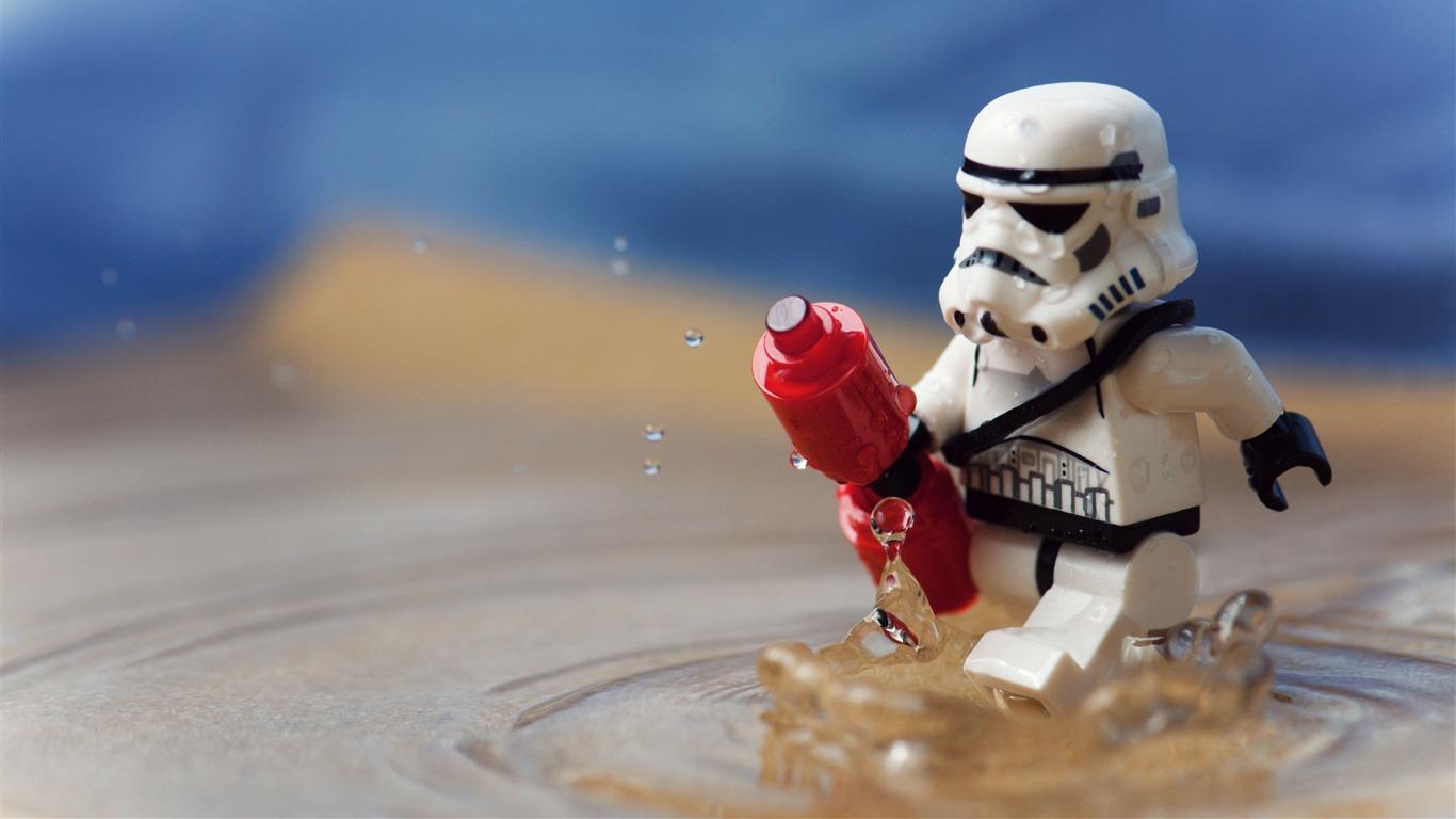 lego funny Imperial Stormtrooper series desktop wallpaper 1366x768 1366x768