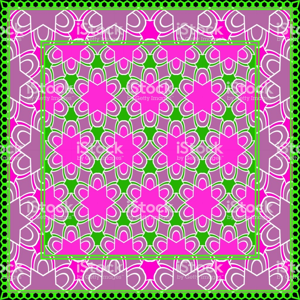 Background Geometric Pattern With Ornate Lace Frame Illustration 1024x1024