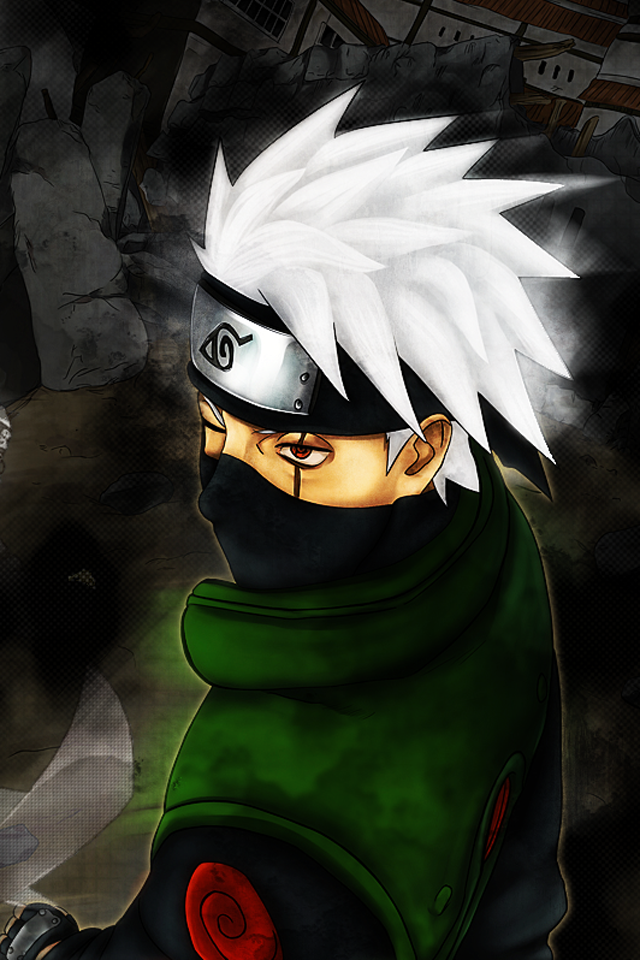 Hatake Kakashi   iPhone 4 by soliozuz 640x960