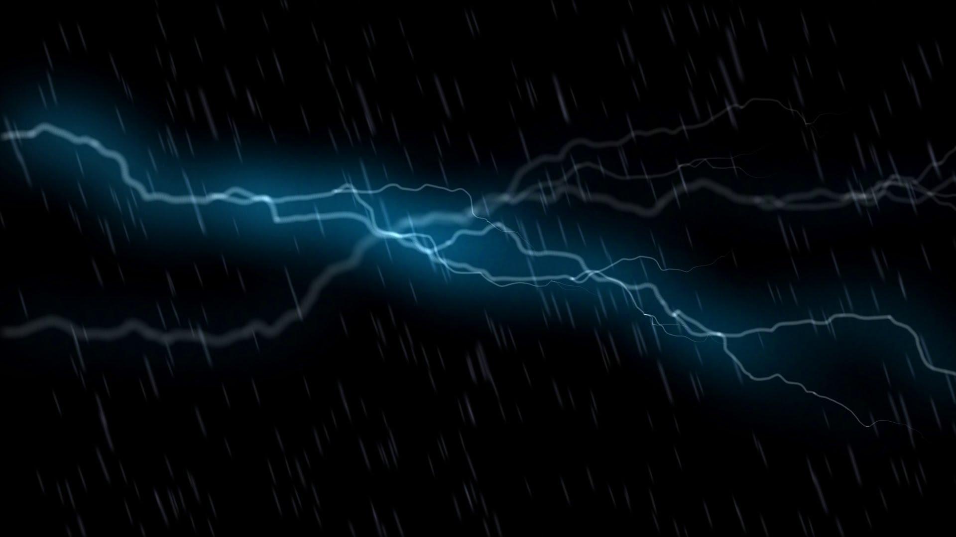 Thunder Storm and Rain Animation   HD Stock Footage 1920x1080