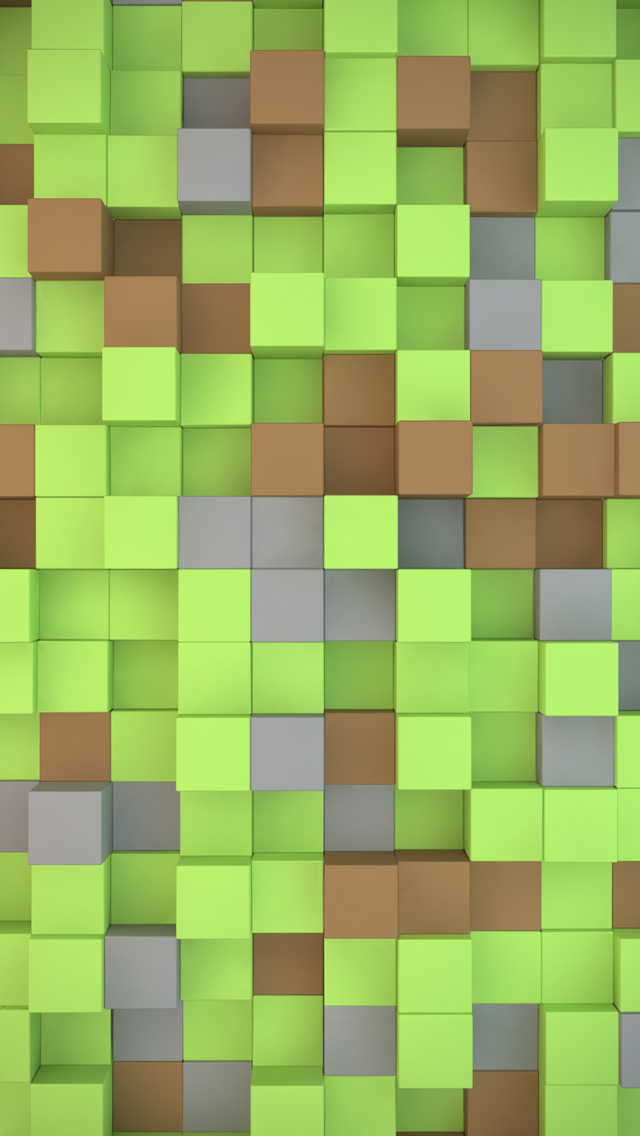 Minecraft cubes iPhone 5s Wallpaper Download iPhone Wallpapers iPad 640x1136
