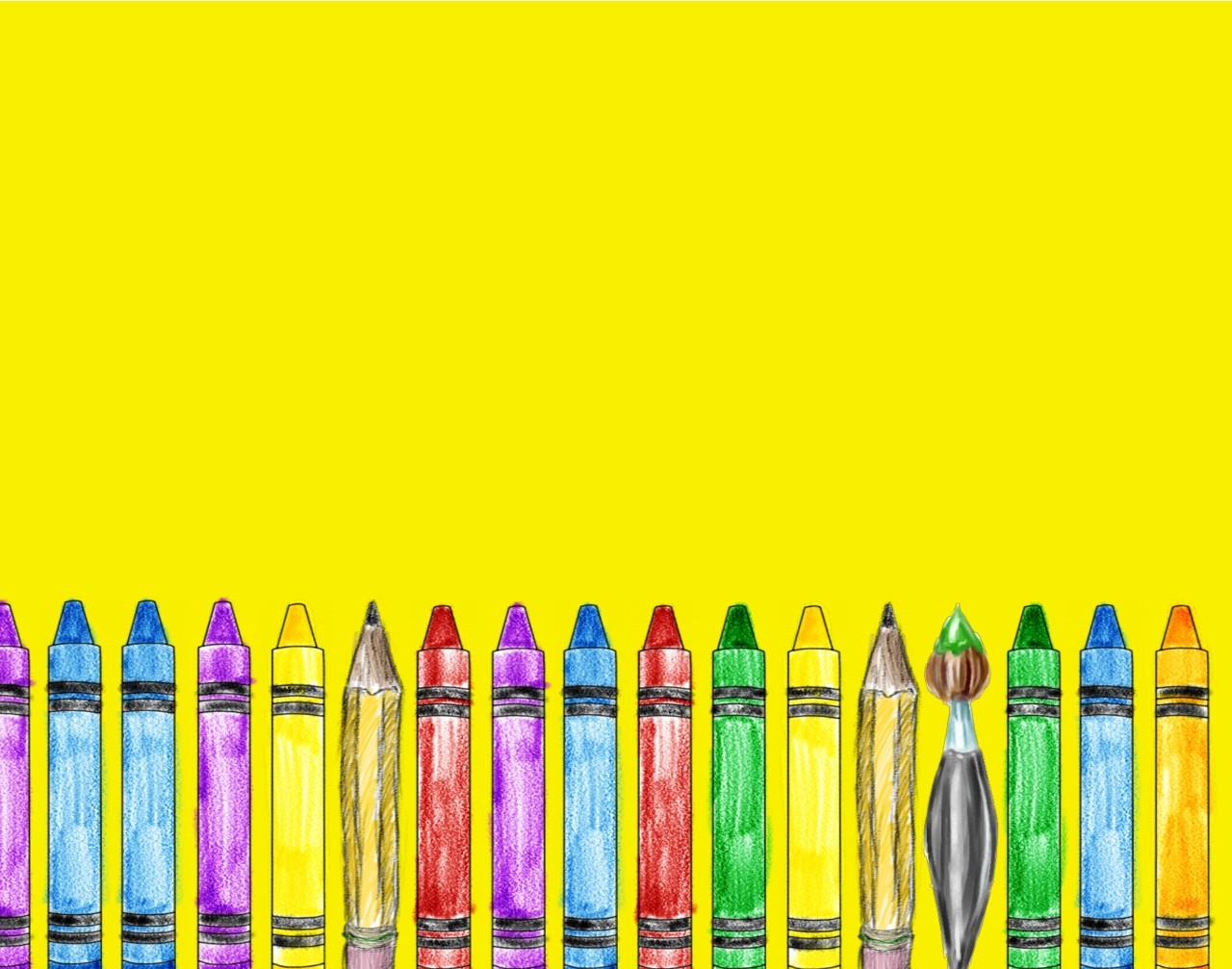 school supplies yellow backgrounds wallpapersjpg 1280x1007