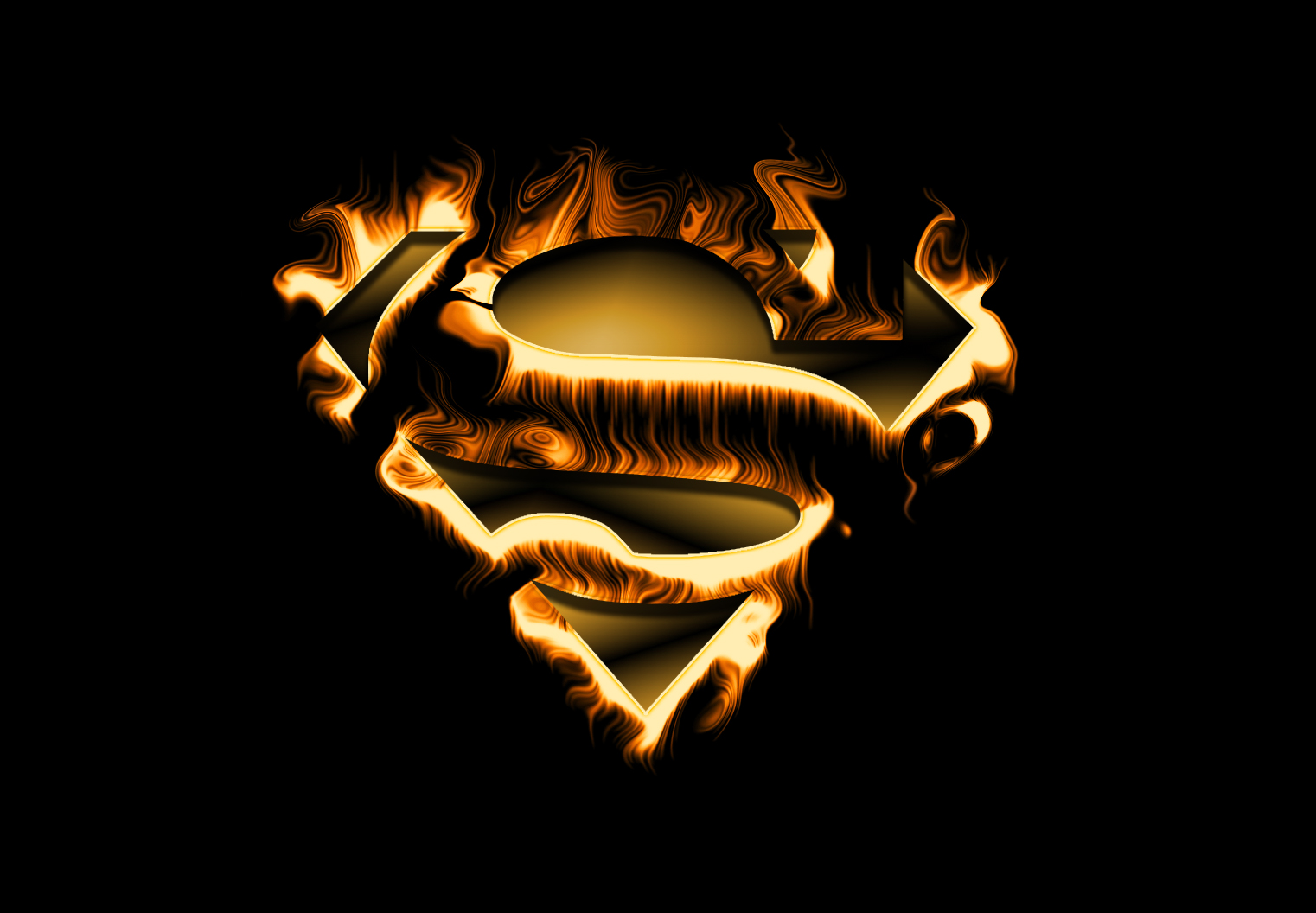 Fire Superman by Wayanoru 1522x1056