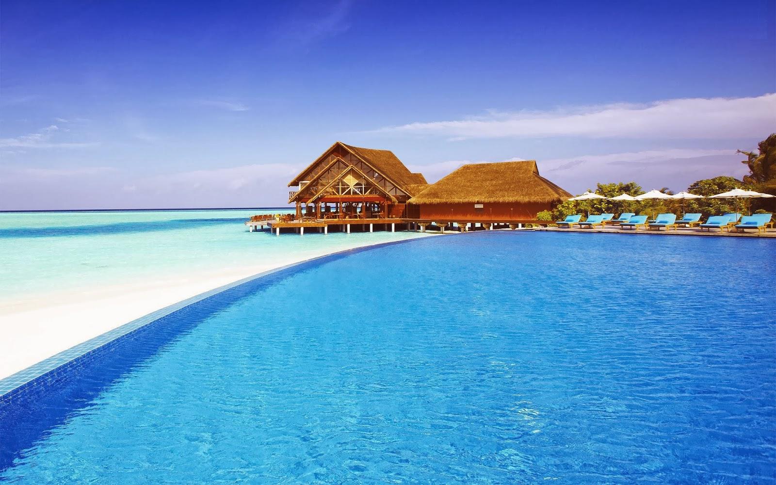 HD Maldives Sun Island Beach Wallpapers - Wallpapers Free