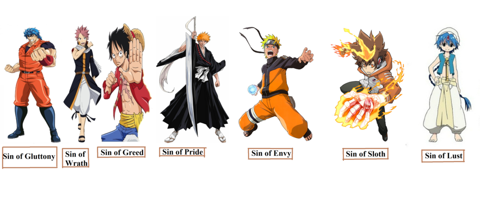 Shonen Seven Deadly Sins by 15sok 1024x410