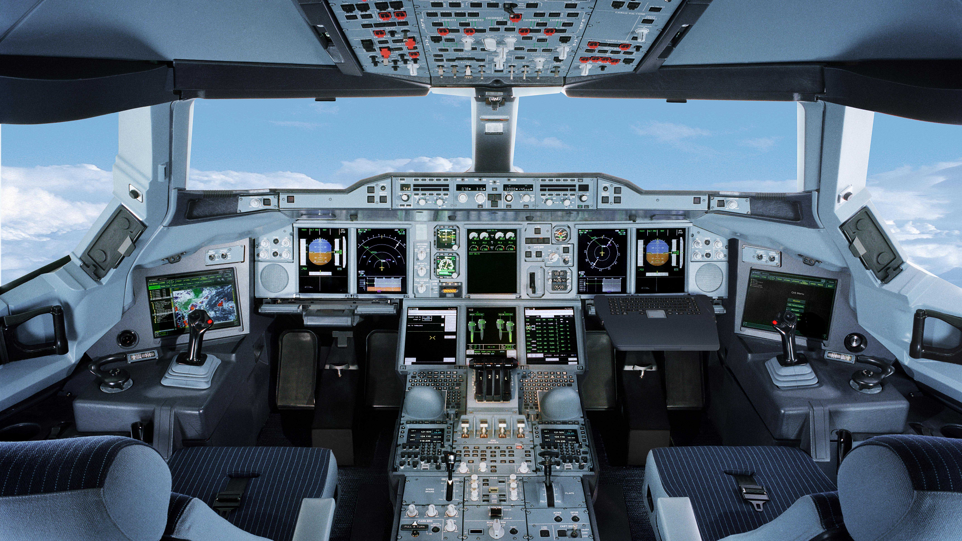 Airbus A380 Cockpit Wallpaper Images Pictures   Becuo 1920x1080