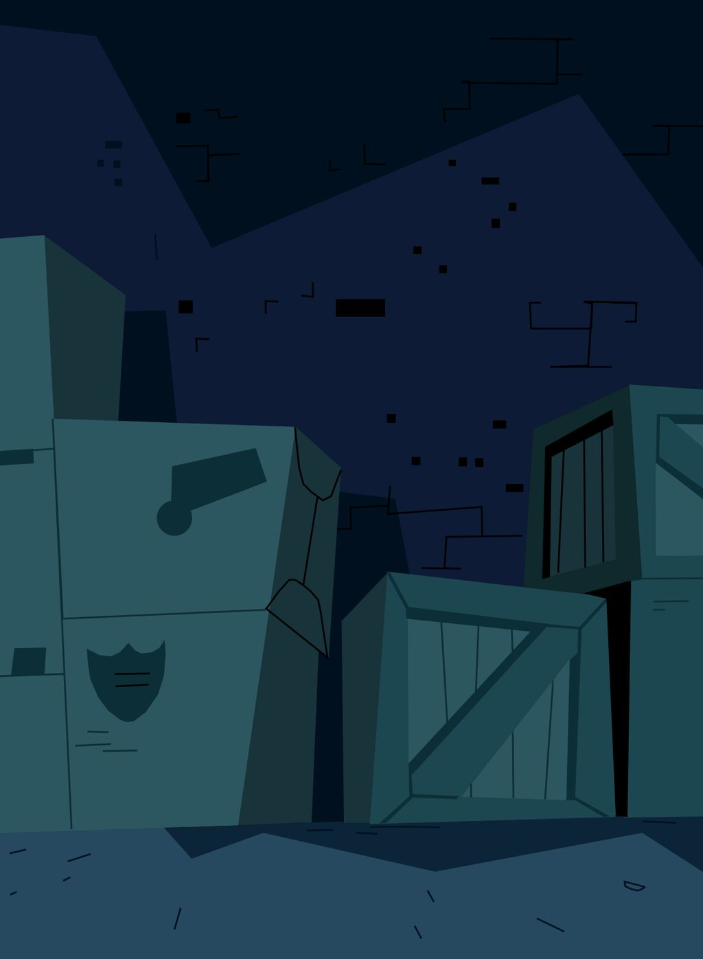 Danny Phantom Background Warehouse 1 by christophr1 1024x1397