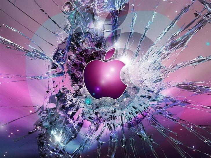 Apple Logo Broken Glass Mac Wallpaper Download Mac Wallpapers 728x546
