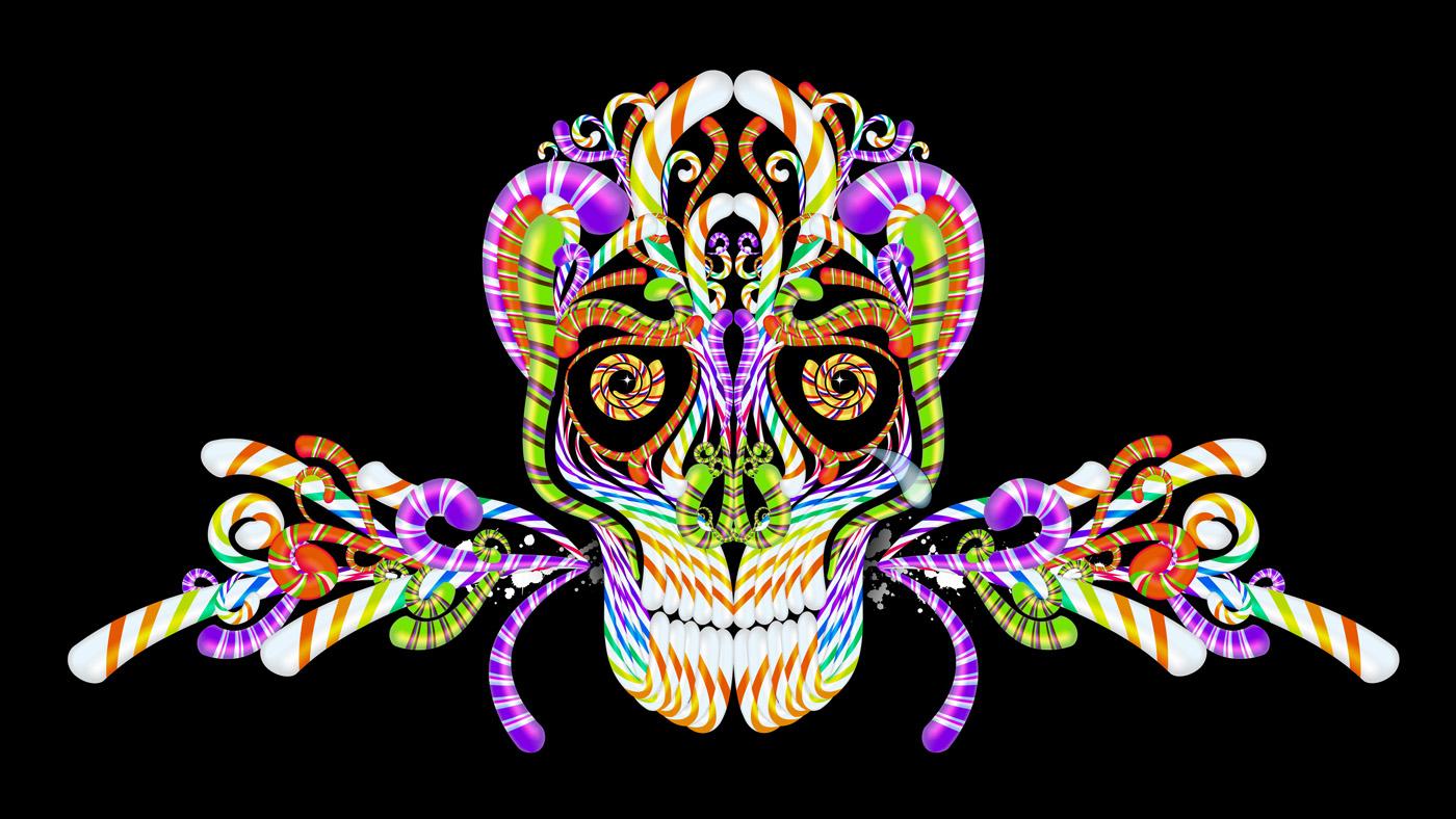 Colorful Sugar Skull Wallpaper Skulls candy wallpaper 1400x788