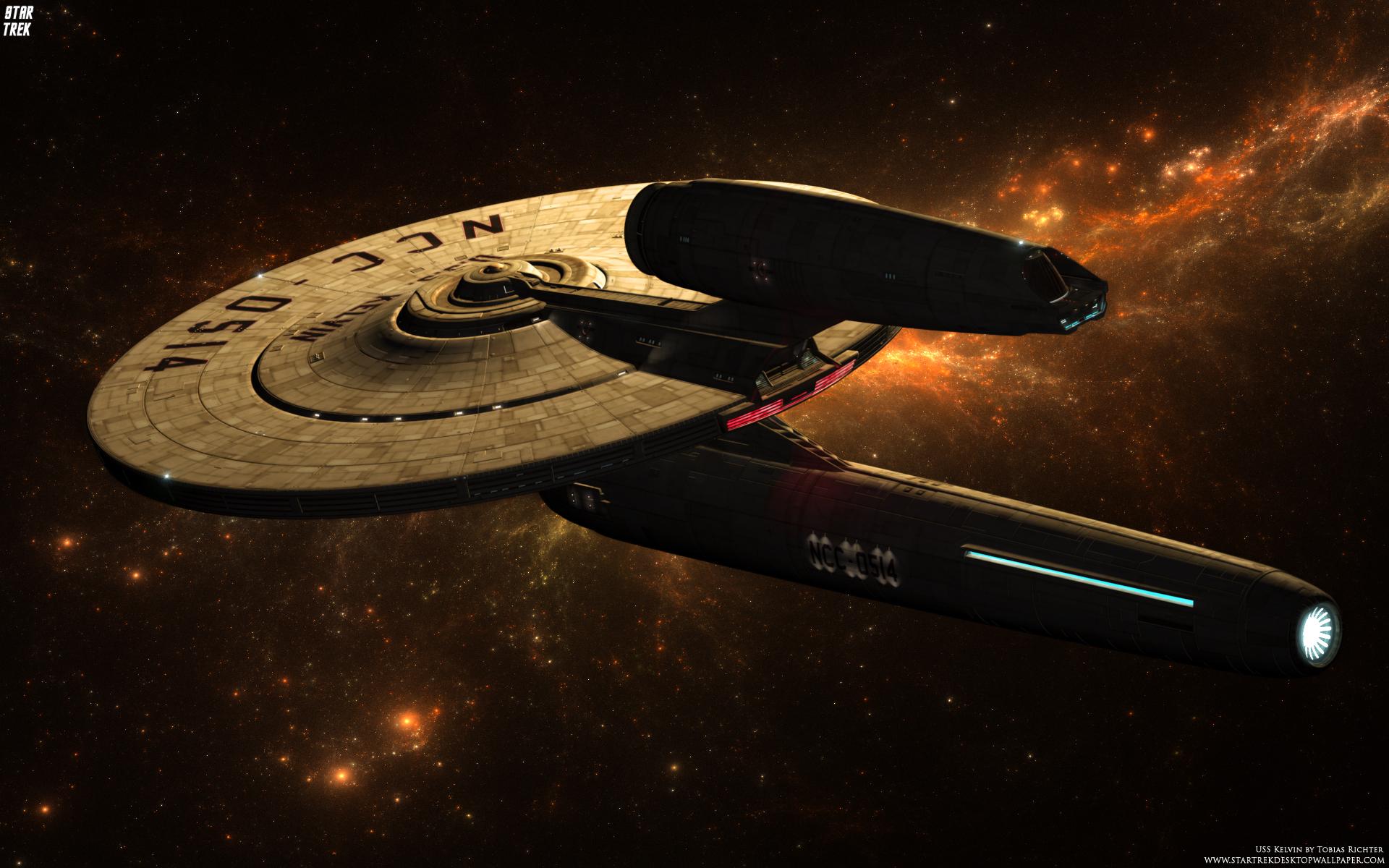 Star Trek USS Kelvin NCC 0514 Star Trek computer 1920x1200