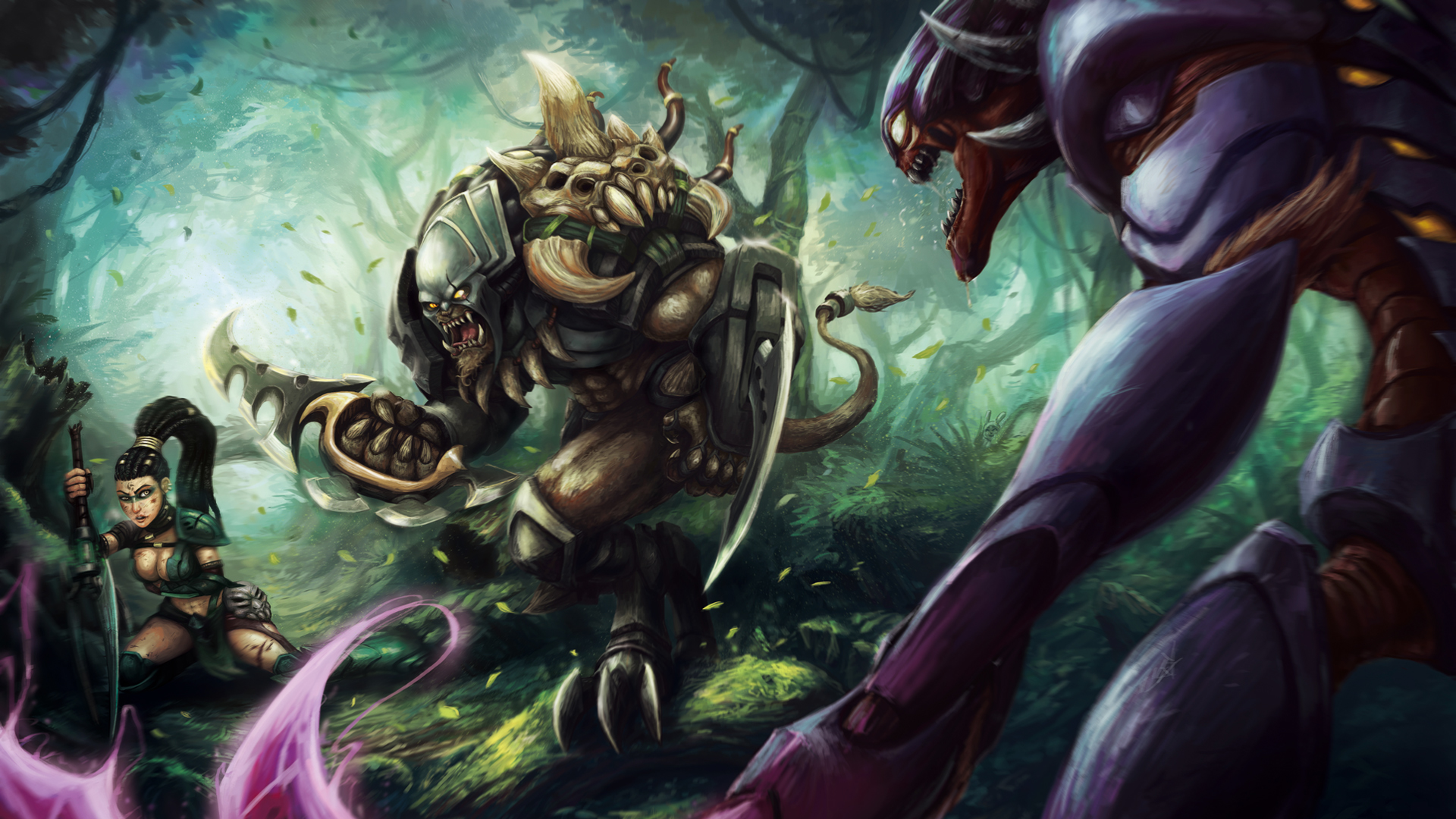 headhunter nidalee rengar khazix league of legends 1920x1080jpg 1920x1080