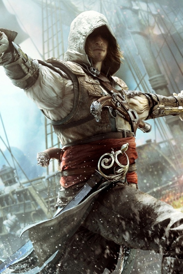Free Download 640x960 Assassins Creed 4 Black Flag Iphone 4
