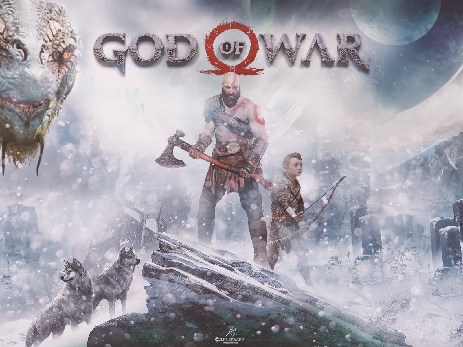 God Of War PS4 4K HD Wallpaper 1600x1200   HD Wallpaper 1600x1200