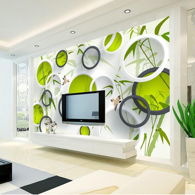 Moda 3D Wallpaper Mural Impermeable Pjaros De Bamb Foto Techo 750x750
