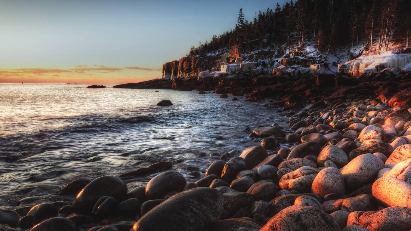 hd otter cliff acadia np maine wallpaper Car Pictures 1366x768