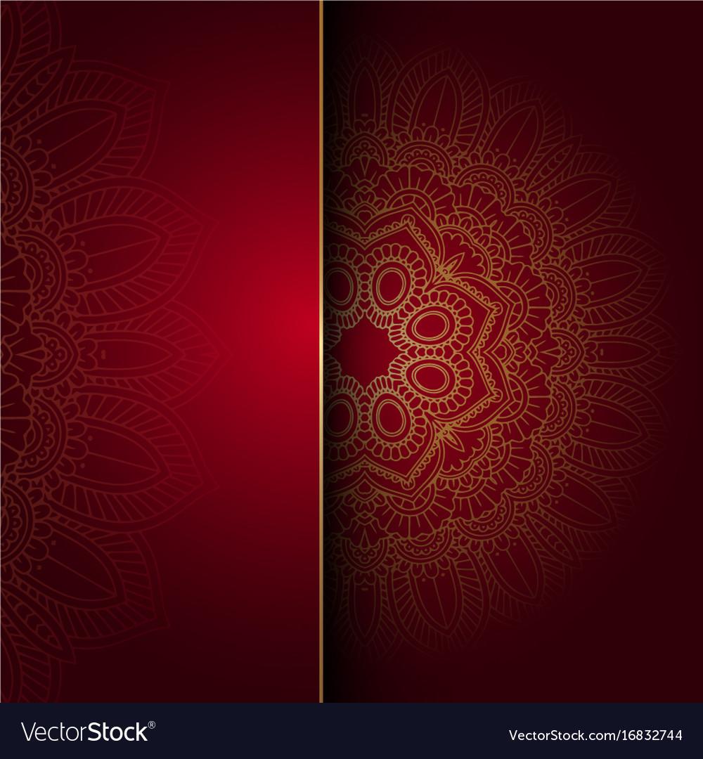 Decorative mandala background Royalty Vector Image 1000x1080