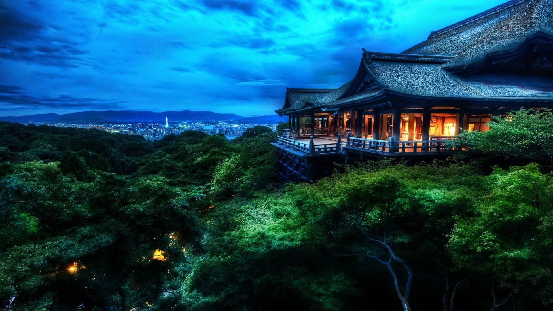 Japan Night Landscape Wallpaper HD 10770 Wallpaper WallpaperLepi 1920x1080