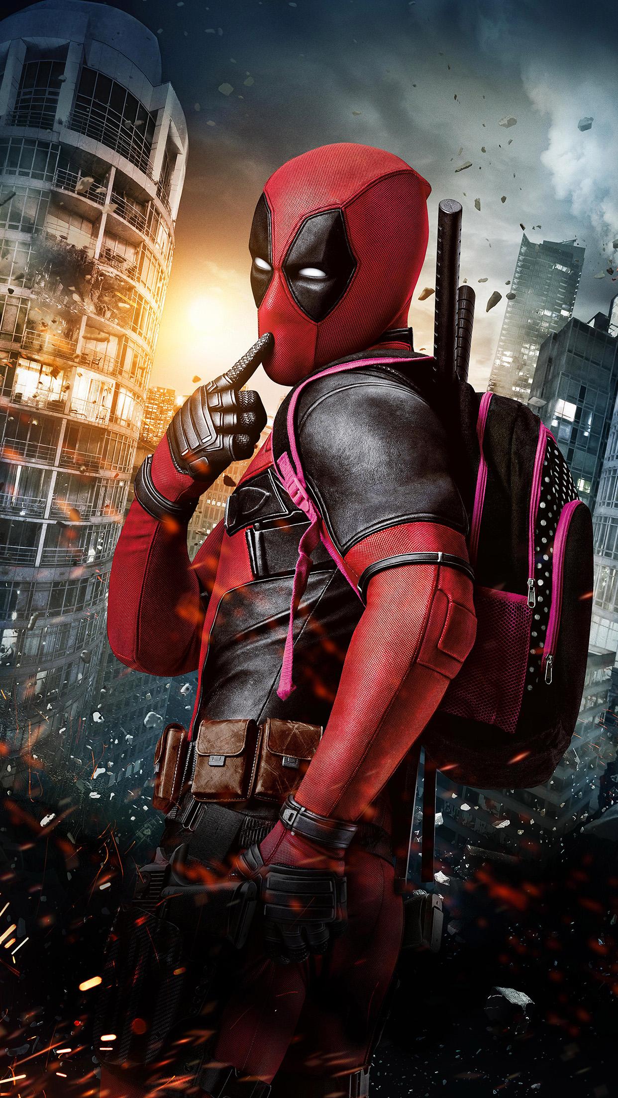 download Dealpool Marvel Hero Poster Film Android wallpaper 1242x2208