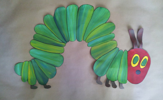 Carle The Very Hungry Caterpillar wallpaper mural room decor on Etsy 570x349