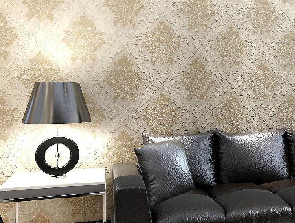 European Style Non Woven Wallpaper For Sofa Back Wall Interior 959x727