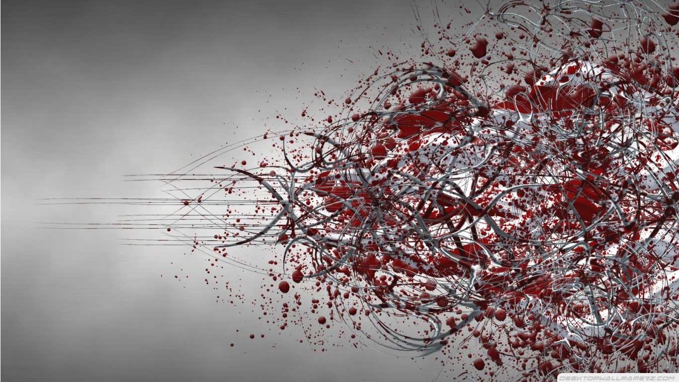 Gray And Red Waves Abstract Wallpapers 1366768 46434 HD Wallpaper 1366x768