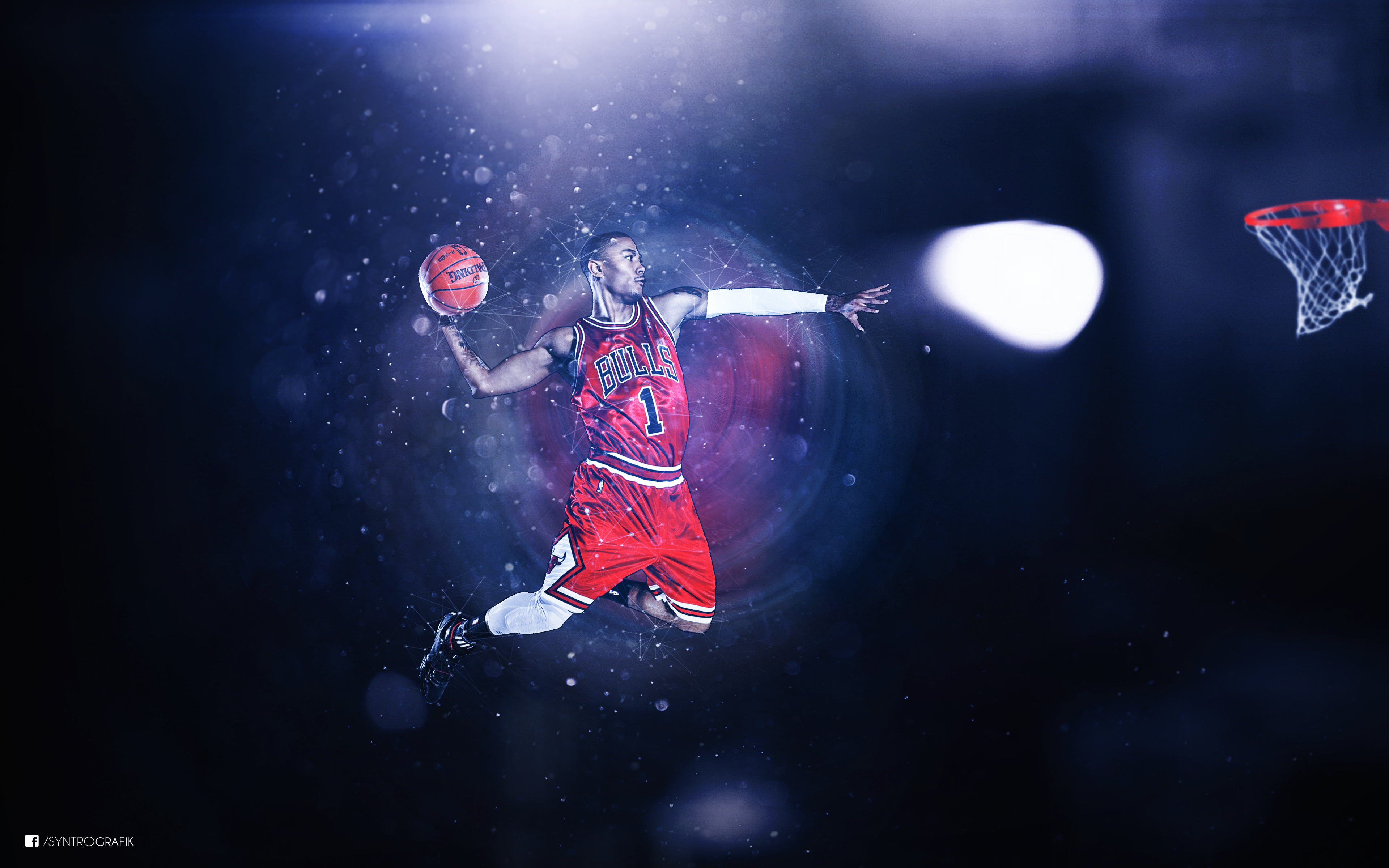 Derrick Rose Basketball Wallpaper by syntrografik 3840x2400