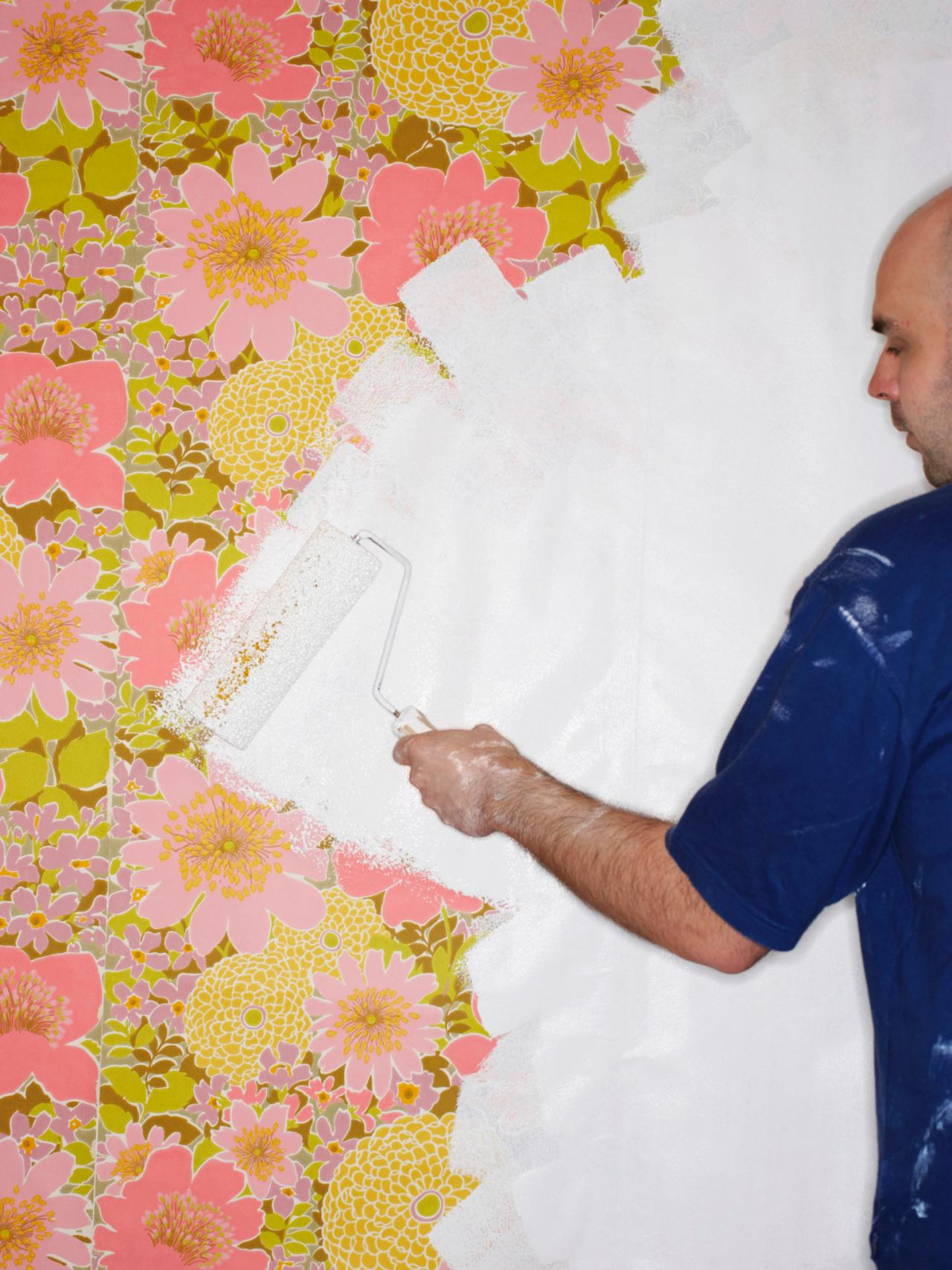 painting over wallpaper have unsightly wallpaper as long as it is in 1280x1707