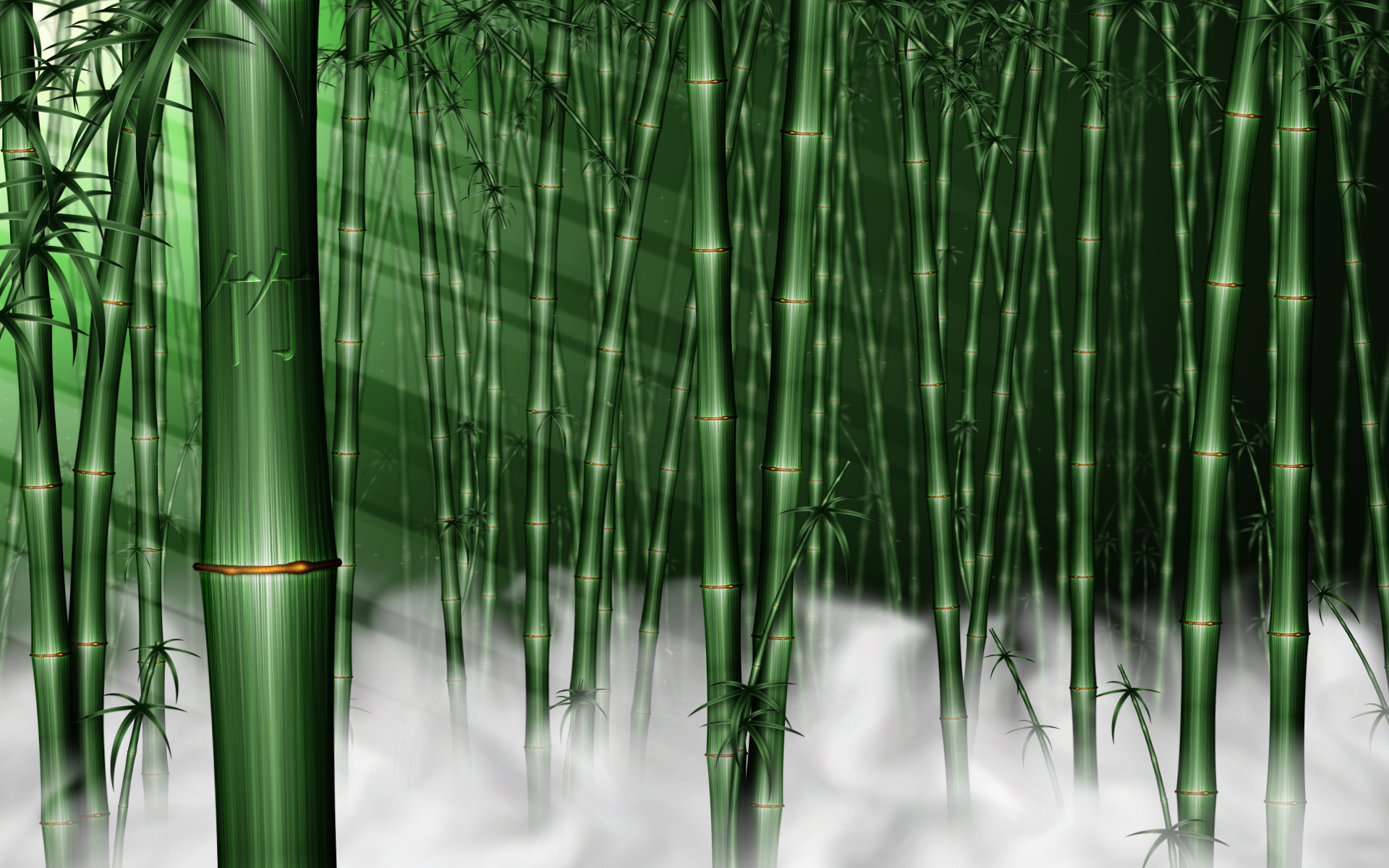 Forest wallpaper for room wallpapersafari for Bamboo mural wallpaper