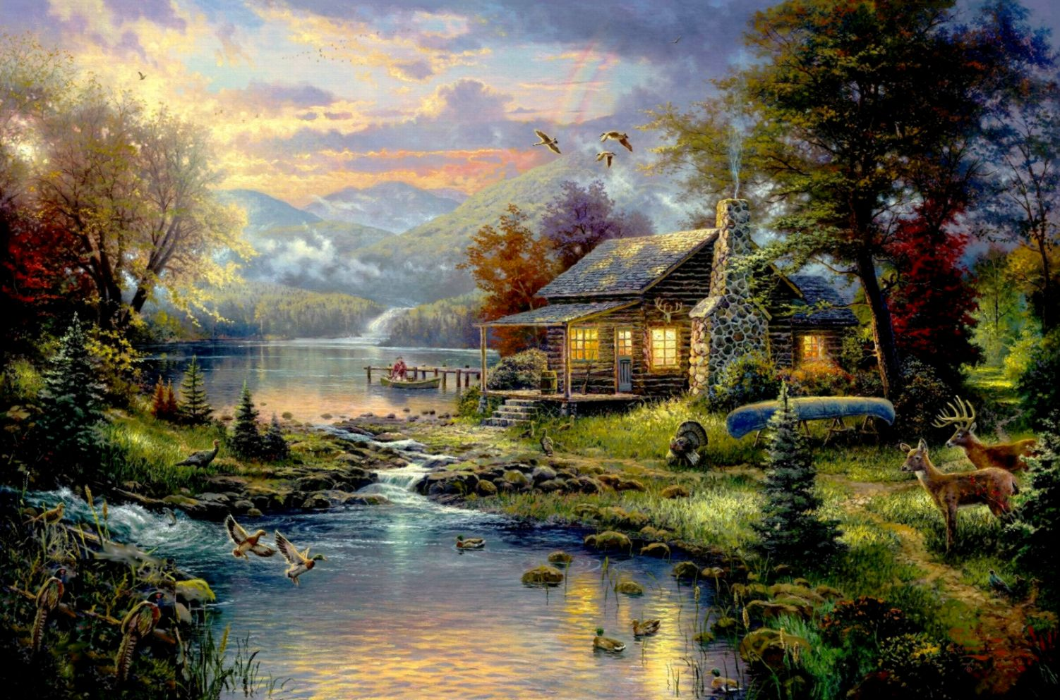 Thomas Kinkade Wallpaper All in One Wallpapers 1502x993