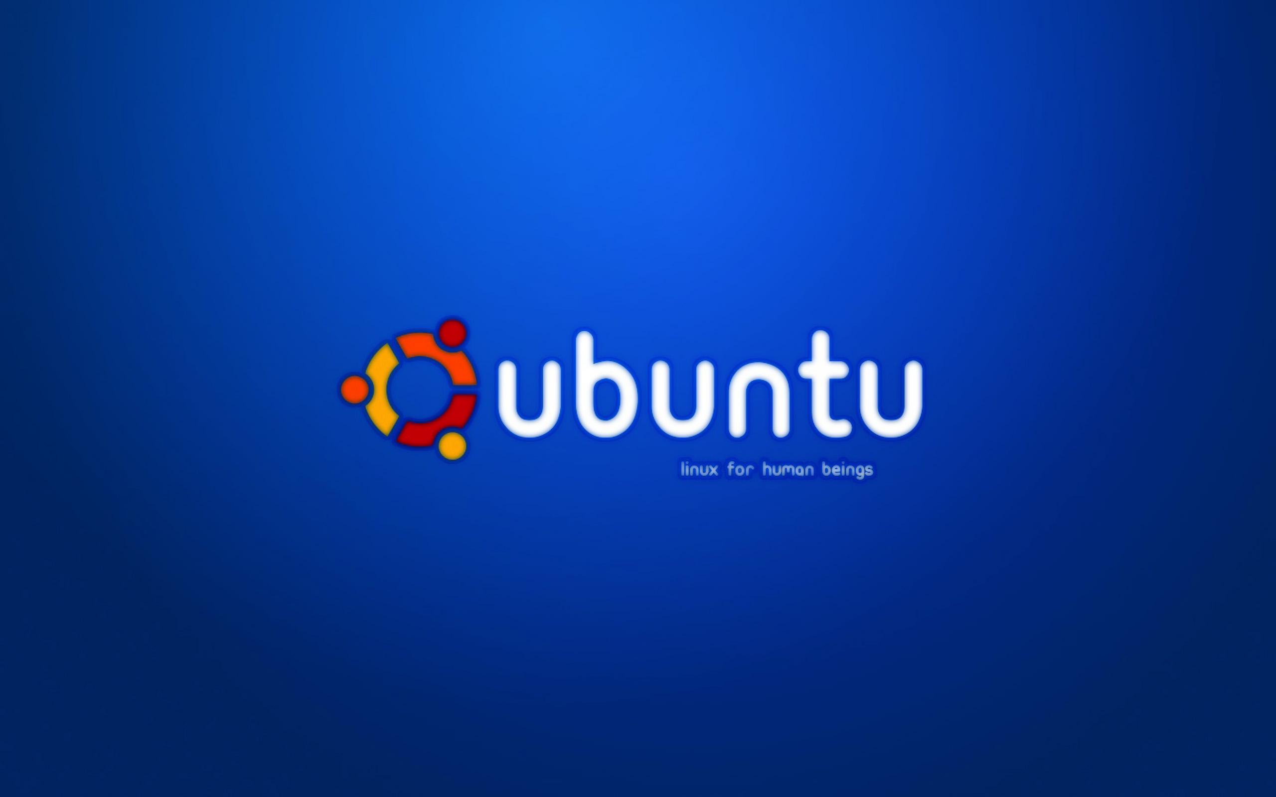 2560x1600 Blue Ubuntu desktop PC and Mac wallpaper 2560x1600