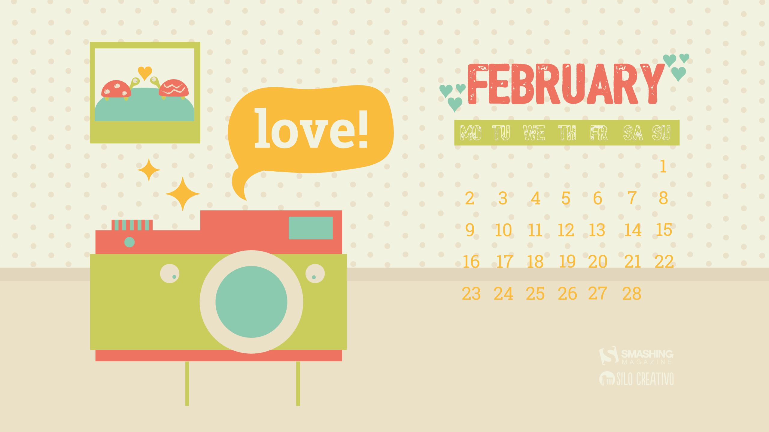 February 2015 Wallpaper Calendar 36626 ISOFTWEB 2560x1440