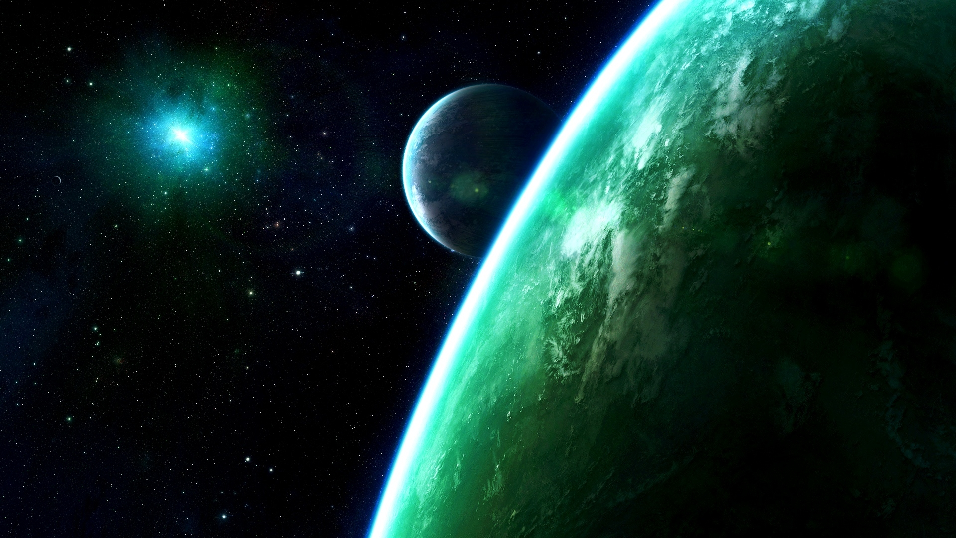 sci fi planets wallpaper background 1920x1080