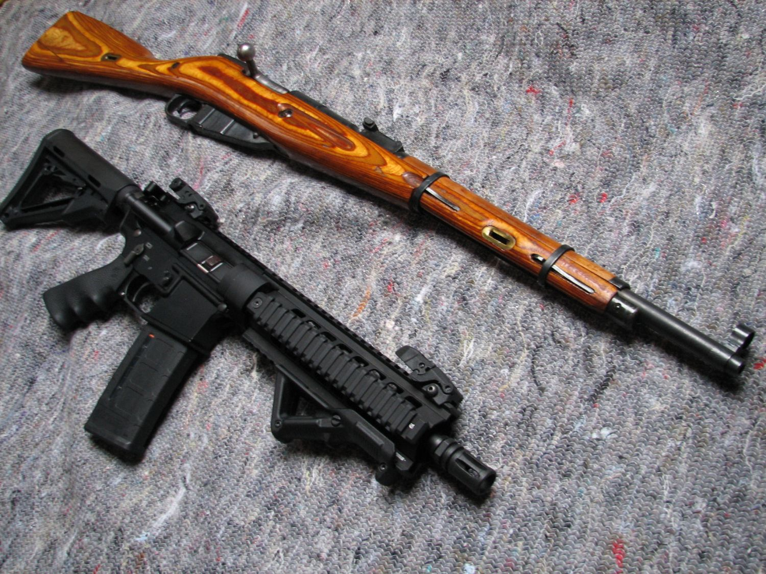 guns weapons mosin nagant magpul ar 15 m44 carabine HD Wallpaper 1500x1125