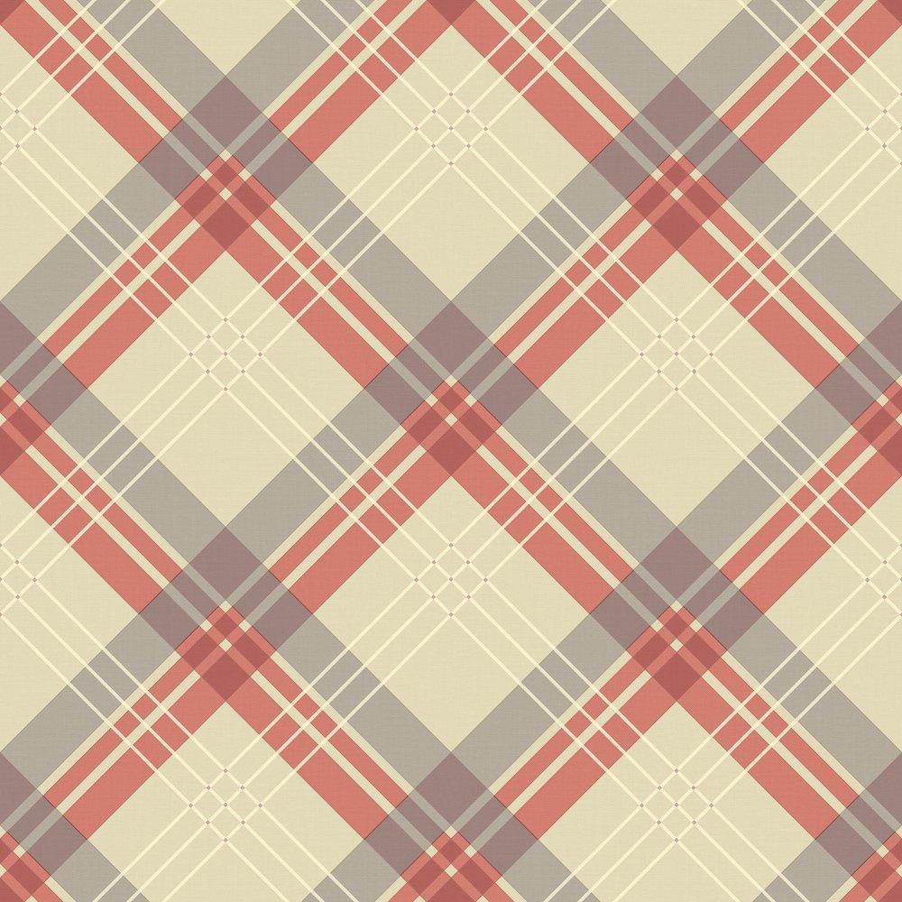 Vintage Fairburn Tartan Check Pattern Textured Vinyl Wallpaper 252701 1000x1000