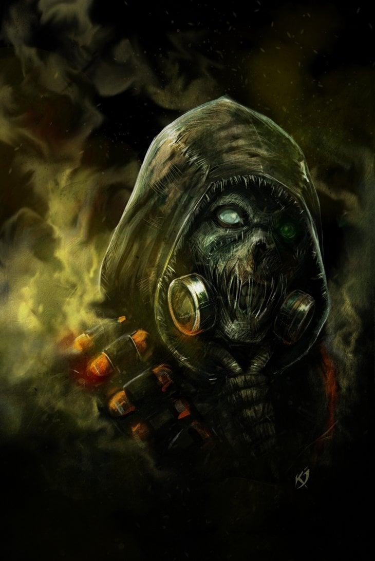 Arkham Knight Scarecrow by Klar Jezebeth 730x1093