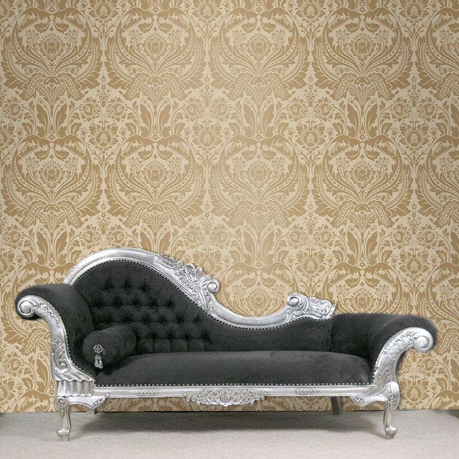 Grandeur Damask Wallpaper Gold and Cream colour   Images hosted at 900x900