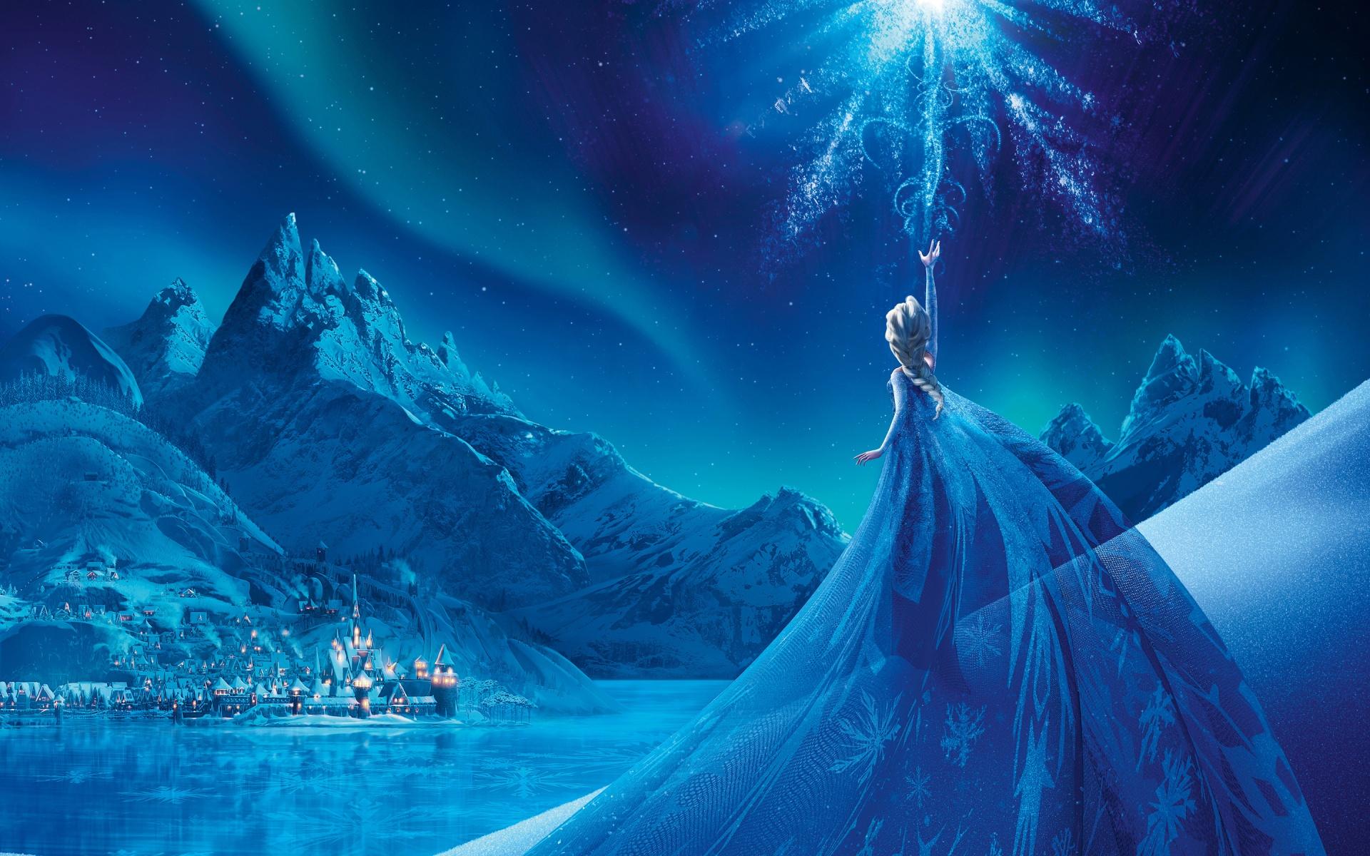 Queen Elsa and snowjpg 1920x1200
