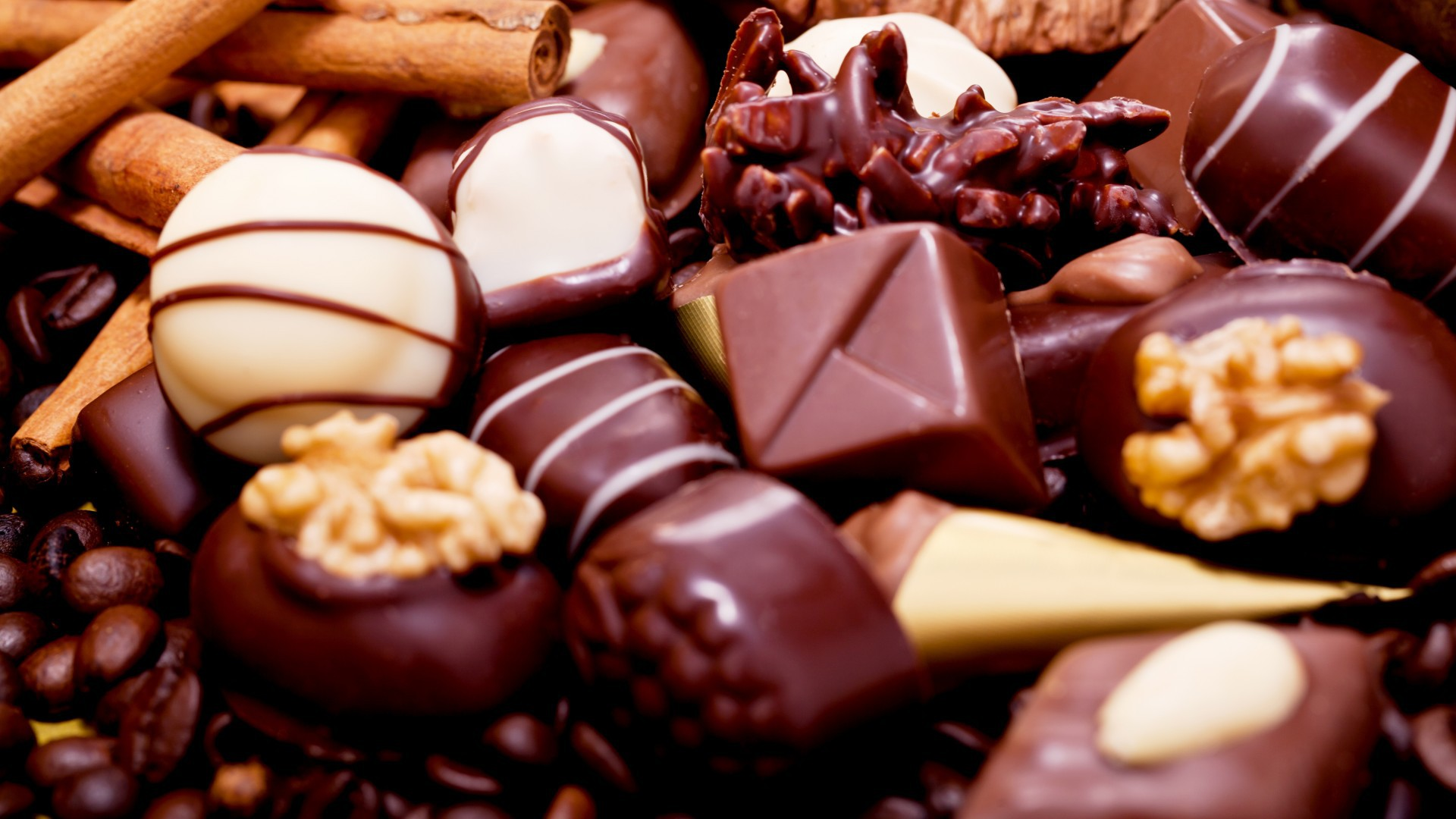 Assorted chocolate candy wallpapers and images   wallpapers pictures 1920x1080