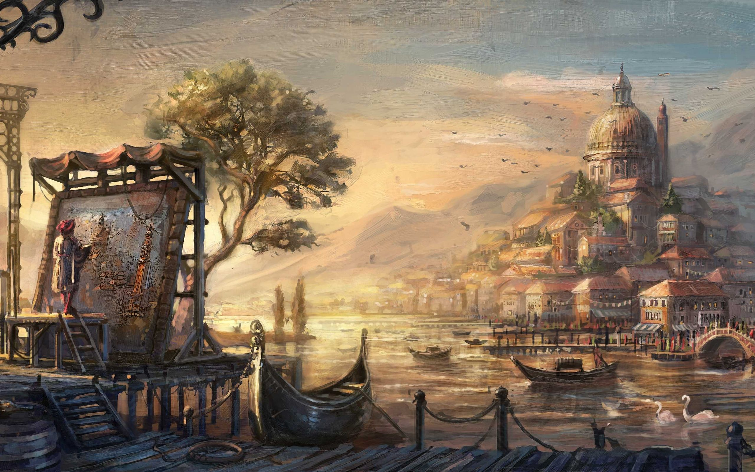 Paintings as Wallpapers   Top Paintings as Backgrounds 2560x1600