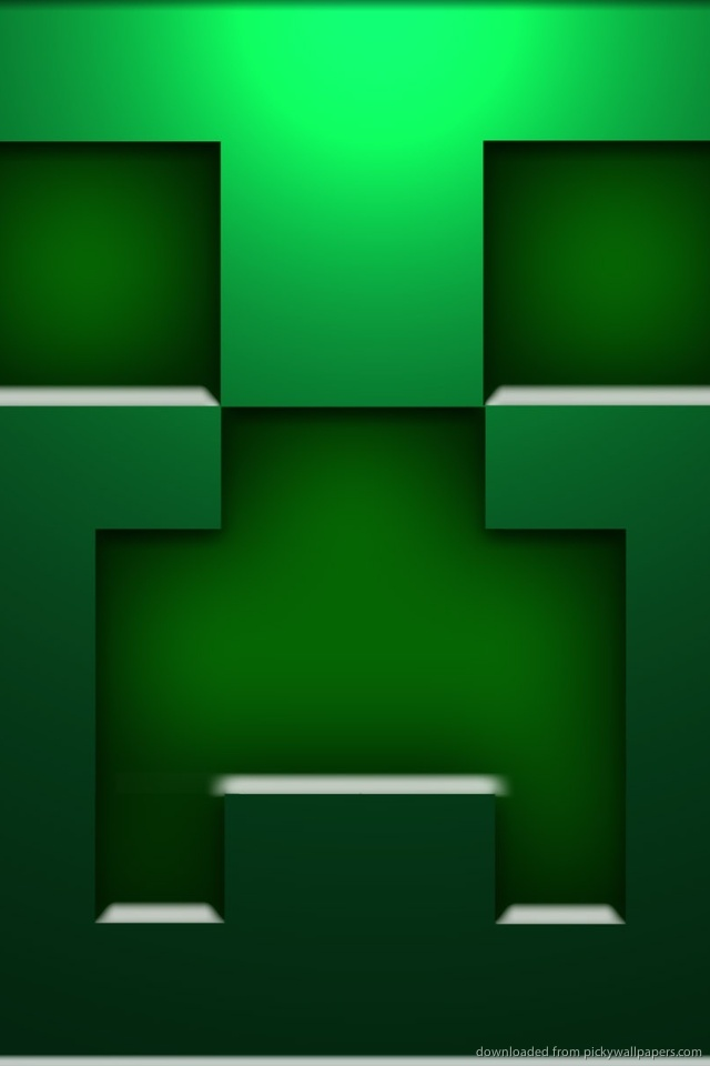 wallpaper minecraft creeper wallpapers minecraft creeper iphone 5 640x960