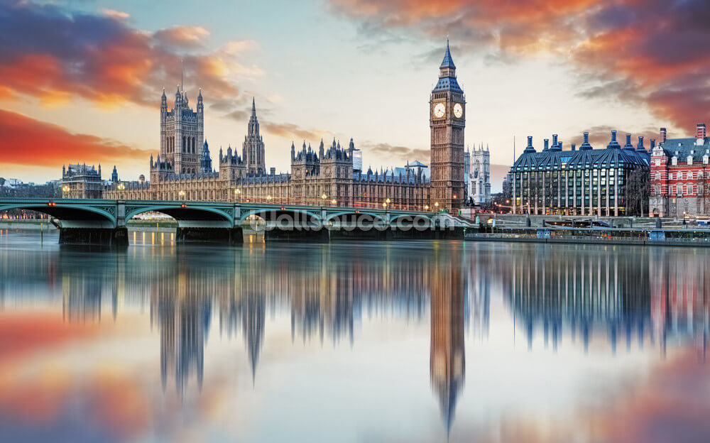 London Wallpaper Mural Wallsauce US 1000x624