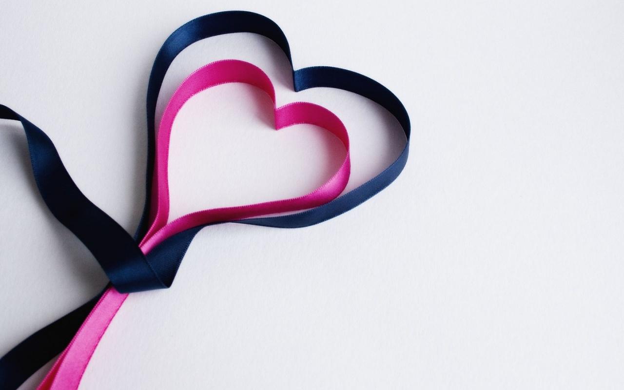Pink And Black Ribbon Hearts 1280 x 800 Download Close 1280x800