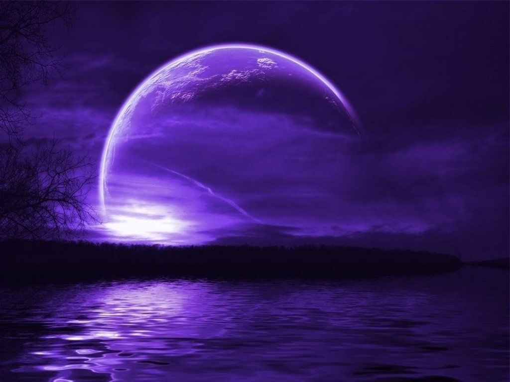 purple moon wallpaper images Wallpaper With images Beautiful 1024x768