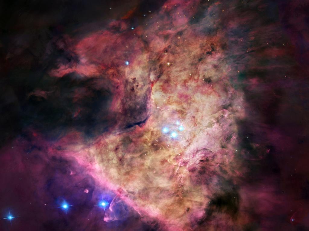 Orion Nebula M42 Hubble wallpaper HD Desktop Wallpaper 1024x768