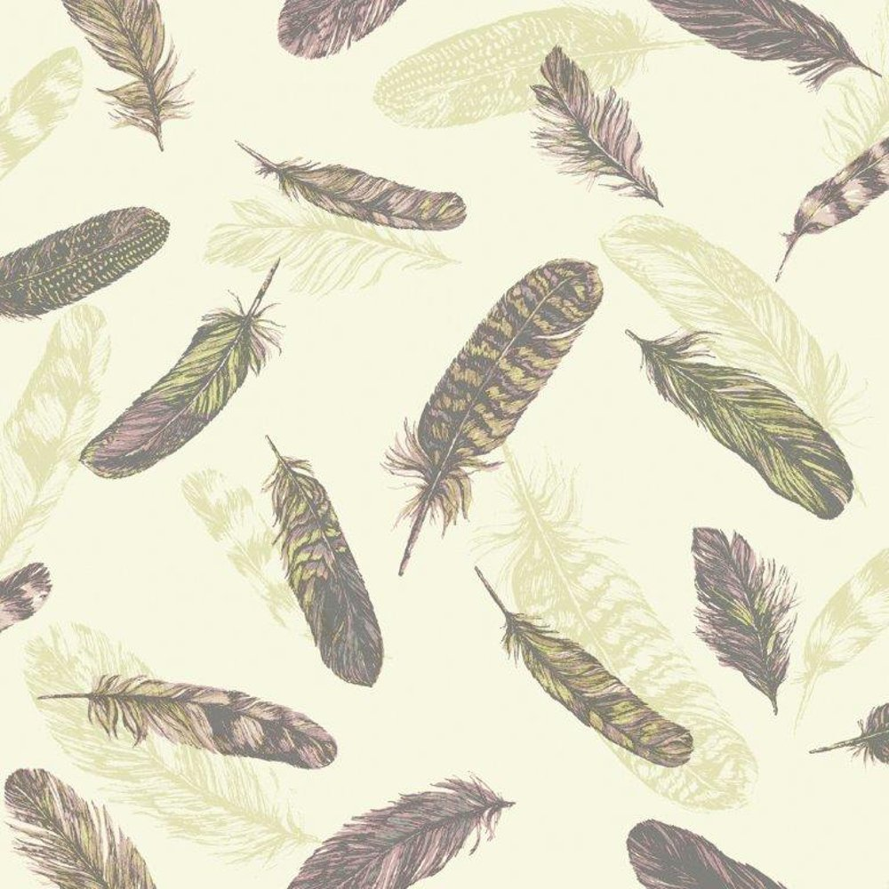 Wallpaper Arthouse Arthouse Vintage Plume Bird Feather Pattern 1000x1000