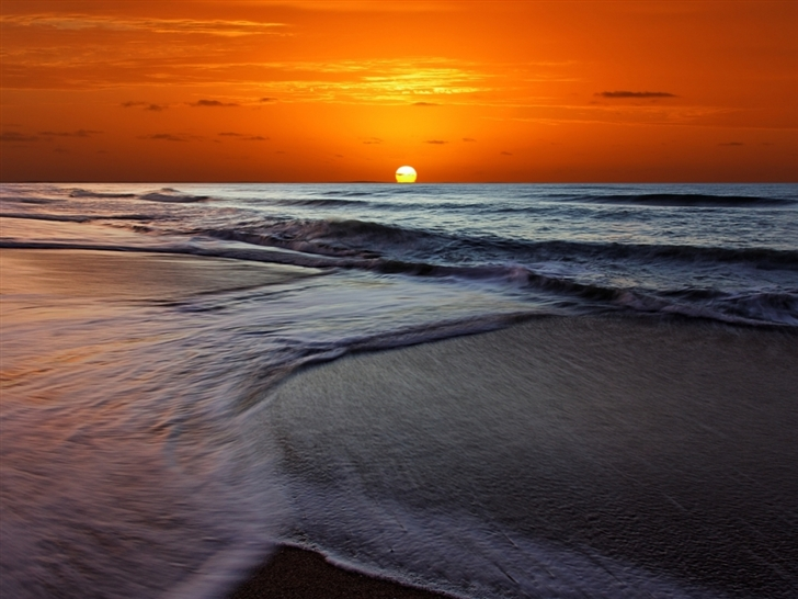wwwallmacwallpapercommac wallpaperMemorable Sunset Beach1425 728x546