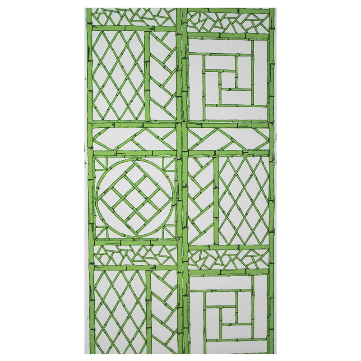 Green Chinese Lattice Wallpaper Set of 2 Rolls 1200x1200
