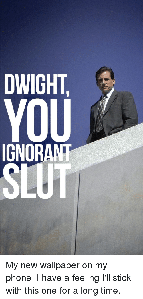 Ignorant Phone And The Office   Office Us Phone Wallpaper 500x1041