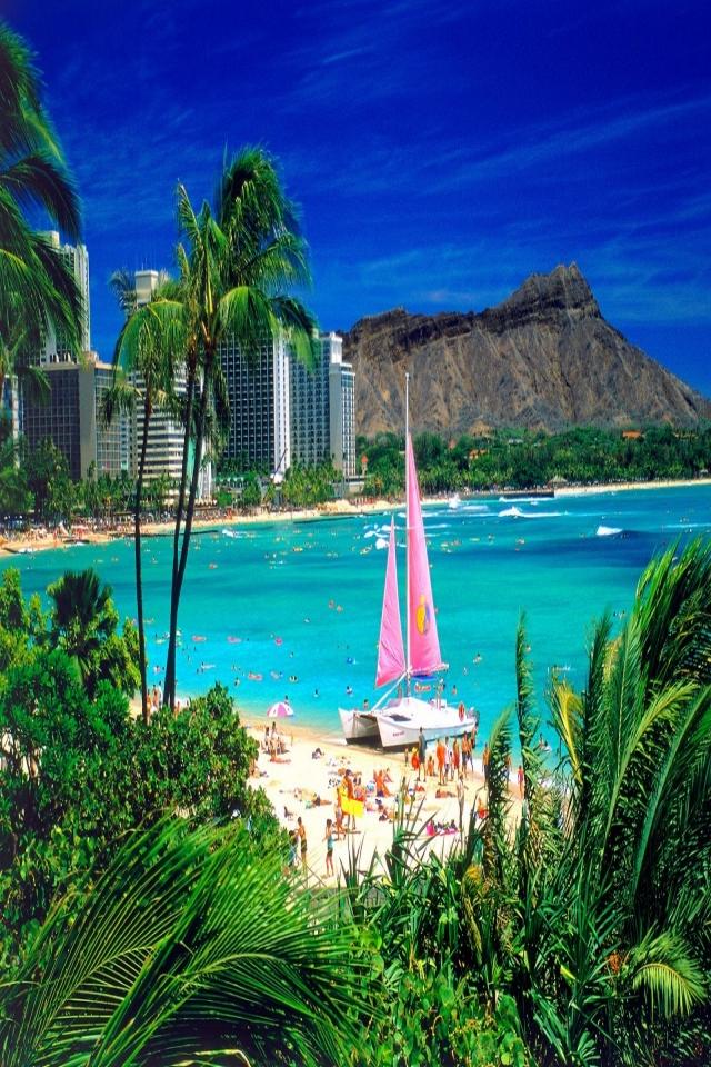 60 Waikiki Hawaii Iphone Wallpaper On Wallpapersafari